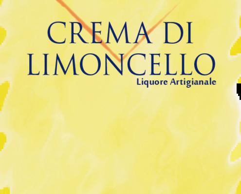 Etichetta crema di limoncello artigianale