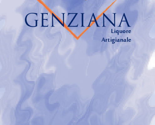 Etichetta Genziana artigianale