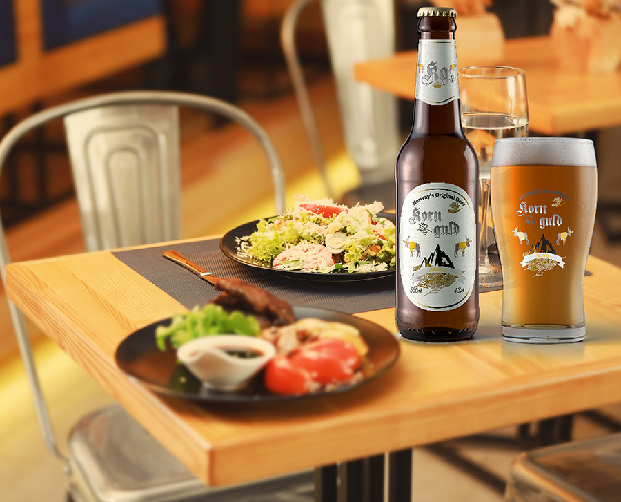 Pubblicità packaging birra Korn Guld