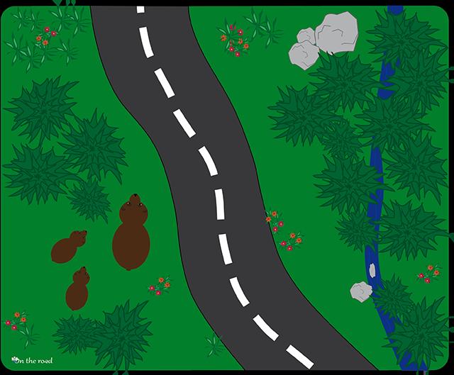 Tappetino mouse strada nel bosco