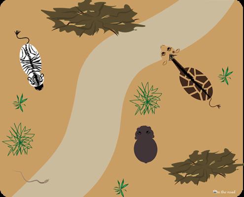 Tappetino mouse strada nella savana