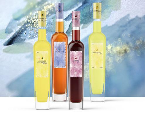 Pubblicità packaging liquori artigianali