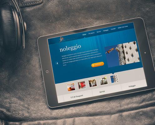iPad Pubblicità sito TTM La Motta S.r.l.