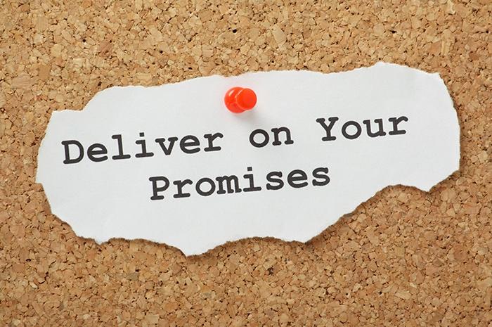 Le promesse vanno mantenute